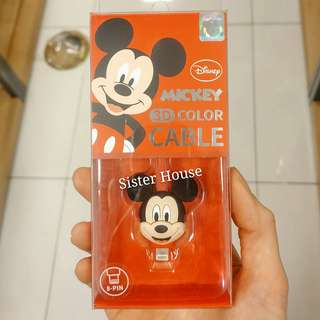 (包郵)🇰🇷Disney Mickey Mouse Charge & Sync 8Pin Cable 米奇老鼠充電線