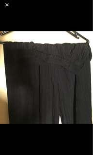 basic cullote striped black bagus bgt