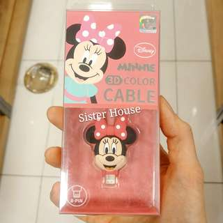 (包郵)🇰🇷Disney Minnie Mouse Charge & Sync 8Pin Cable 米妮老鼠充電線