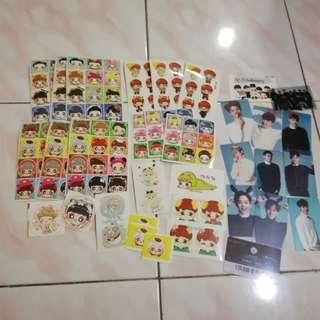 NEW EXO SUPERFANKIT EXO STICKER SET TRANSPARENT CARD SET