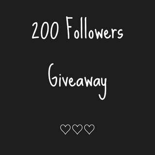 200 Followers Giveaway