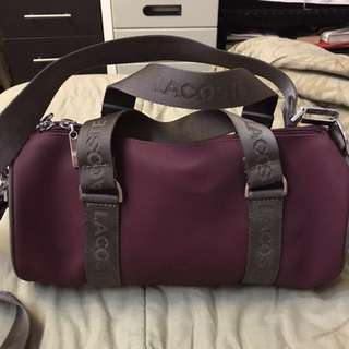 Authentic lacoste Maroon sling bag