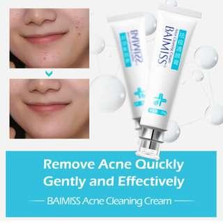 BAIMISS Acne Cleaning Cream Skin Care Remove Repair Comedone Pimple Acne Quickly Face Acne Cream