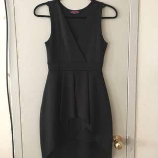 Sexy black high low dress