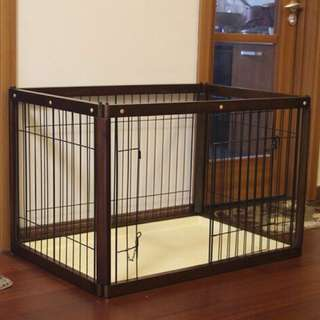 Large Wooden Dog Cage