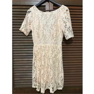 Peach Lace Dress (Forever 21)
