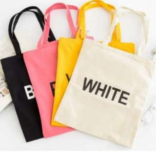 Korean Style Canvas Tote Bag