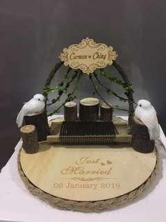 Custom wedding ring holder - with date
