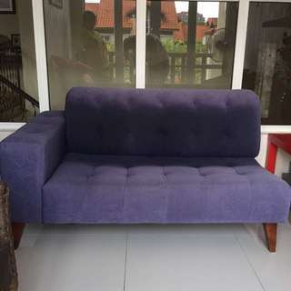 Dark Blue L Shaped Sofa