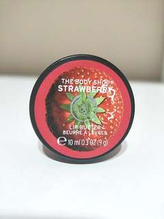 BRAND NEW!! AUTHETNIC THE BODY SHOP STRAWBERRY LIP BUTTER LIP BALM!! SWEET-SMILING STRAWBERRY ESSENCE🍓 FOR THAT SMOOTH, KISSABLE AND NICE SCENTED LIPS!!! ONLY1!! HURRY WHILE STOCK LAST!! 💋