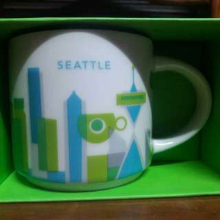 Seattle Starbucks YAH You Are Here Mug with sku