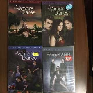 TV Series Vampire Diaries DVDs (Season 1 to 4)