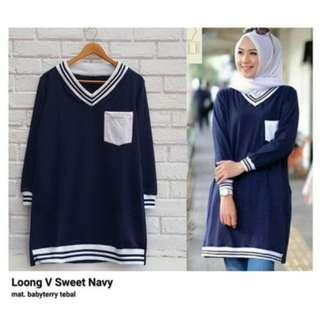 4 warna Loong V sweety sweater