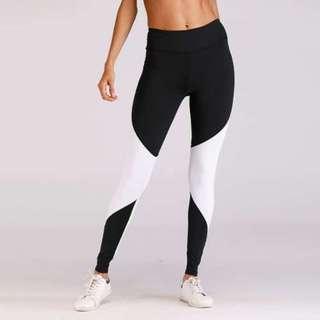 拼接透氣修身緊身瑜伽運動褲/Tight yoga sweatpants