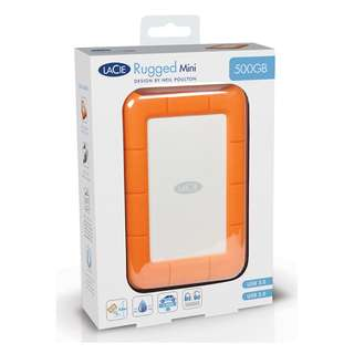Brand new sealed - LaCie Rugged Mini 500GB USB3.0 External Harddisk drive