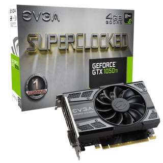 EVGA GeForce GTX 1050 Ti SC Gaming 4GB GDDR5