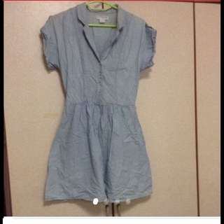 $59 Vintage Dirty-wash V-neck Dress From Sydney ( Brand New)