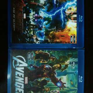Marvel avengers part 1 & 2 Blu Ray movie