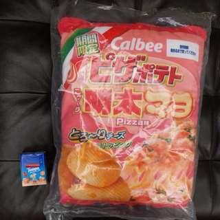 calbee 卡樂b 明太子薯片袋 書包 背包