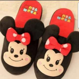 In Stock Tsum Tsum Minnie Mouse Bedroom Slippers for size 38 to 39