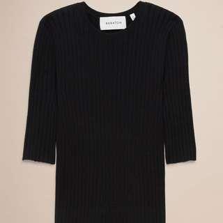 Babaton Sweater in BLACK