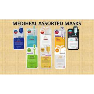 MEDIHEAL ASSORTED MASKS BUNDLE (8PCS)