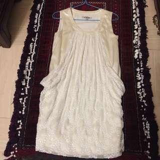 Chloe Silk White dress