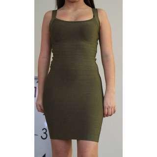 Olive Bandage Dress