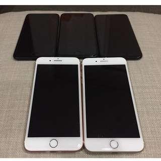 IPHONE 7 PLUS 128GB GOLD, ROSE GOLD,JET BLACK, BLACK MATTE LOCK ICLOUD