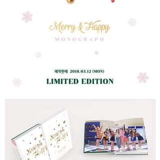 Merry & Happy Monograph Photocard