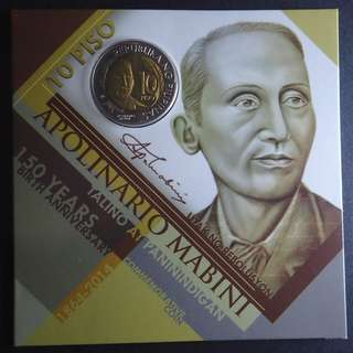 10 Piso Apolinario Mabini 150th Birth Anniversary commemorative coin in blister pack