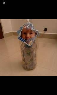 Baby boy gift set ( comb, bottle, coin bank etc)