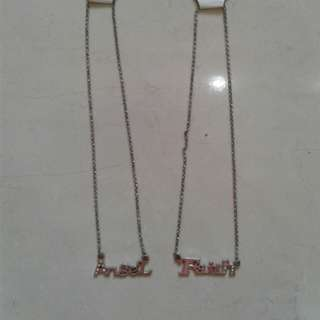 Word plate necklaces set