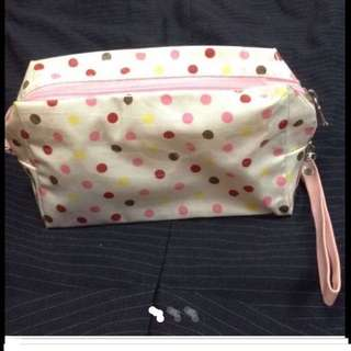 $10 Cheerful Colourful Pokka Dots Pouch From Korea ( Brand New )