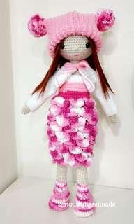 Crochet Coral Doll / Amigurumi (40cm)