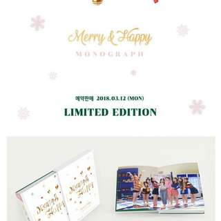 [LOOSE] TWICE MERRY & HAPPY MONOGRAPH
