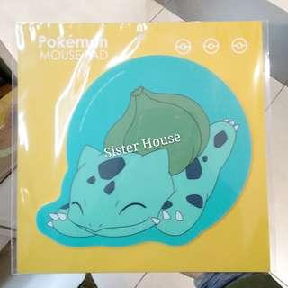 (包郵)🇰🇷Pokemon Mouse Pad 寵物小精靈奇異種子滑雪墊