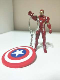 BRAND NEW!! THE CIVIL WAR: THE AVENGERS BETWEEN THE IRONMAN & CAPTAIN AMERICA!! SELL SEPARATELY OR AS A SET!!  ONLY 1!! RARE!!  FASTER GRAB BEFORE ITS GONE!! IRONMAN MINIATURE FIGURINE IS HEAVY AND STURDY,  SUPERB QUALITY BOUGHT FROM JAPAN!!  HURRY!!