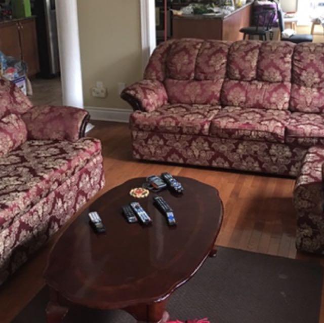 3 Piece Italian Sofa Couch Set