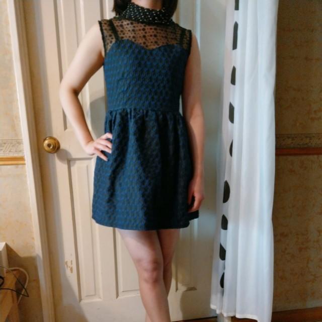 藍色無袖氣質洋裝