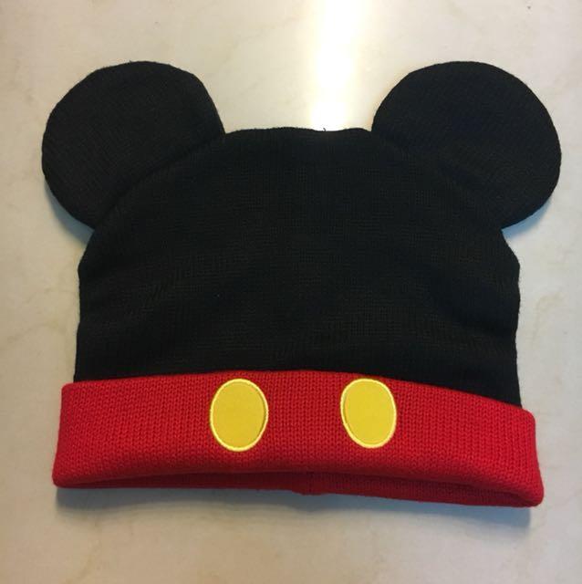 東京迪士尼米奇造型毛帽