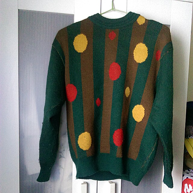 【厚實】百分百羊毛 圈圈彩色毛衣
