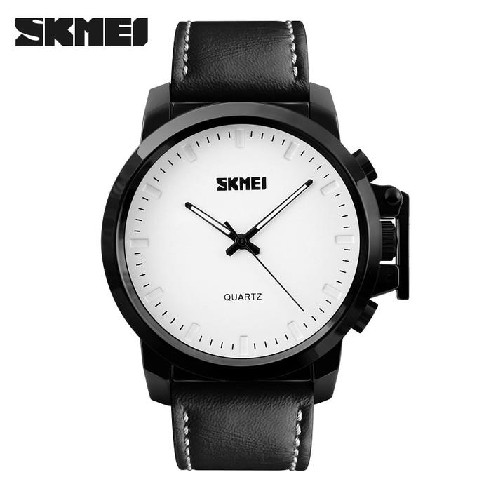 """ Casual SKMEI 1208 Original Leather Strap Anti Air 30M"""