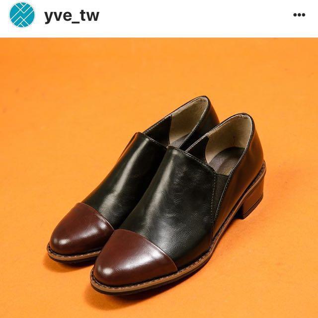 正韓韓國 yve 牛津鞋 跟鞋 樂福鞋