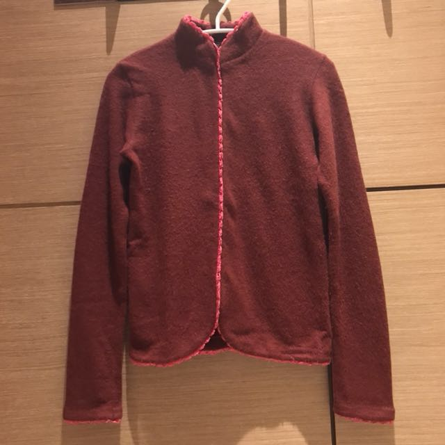 A/T 柏根地紅 羊毛外套#超取再七折