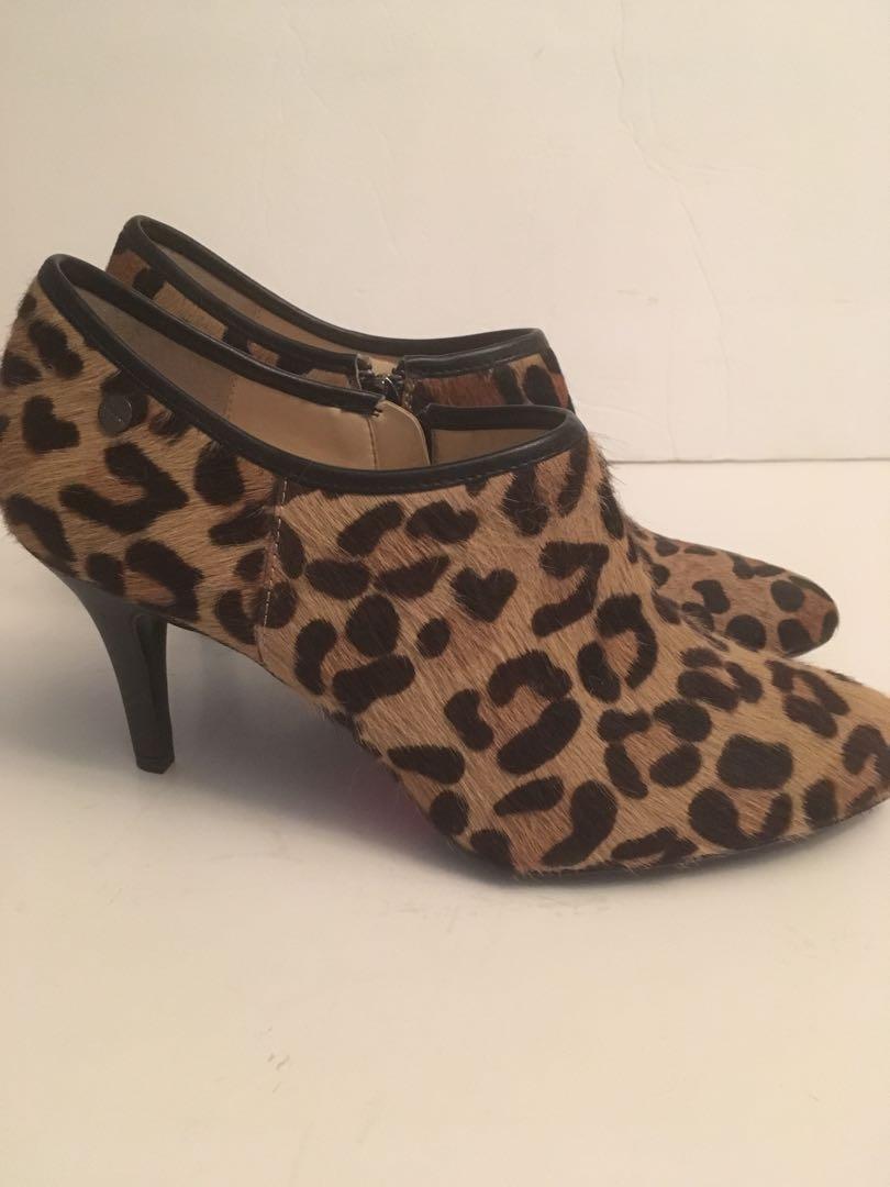 Authentic Calvin Klein mohair leopard boots