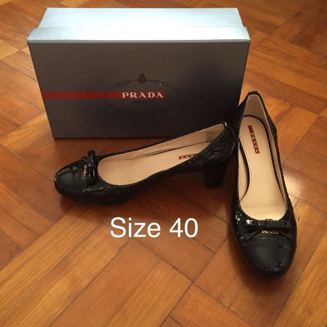 official photos 30bf5 c257a Authentic Prada Calzature Donna Vernice Soft shoes, Luxury ...