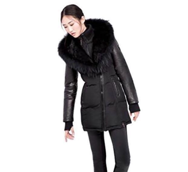 Authentic Rudsak Coat w/ Leather Sleeves XS