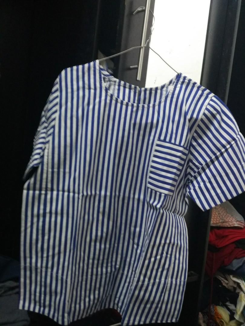 baju garis biru