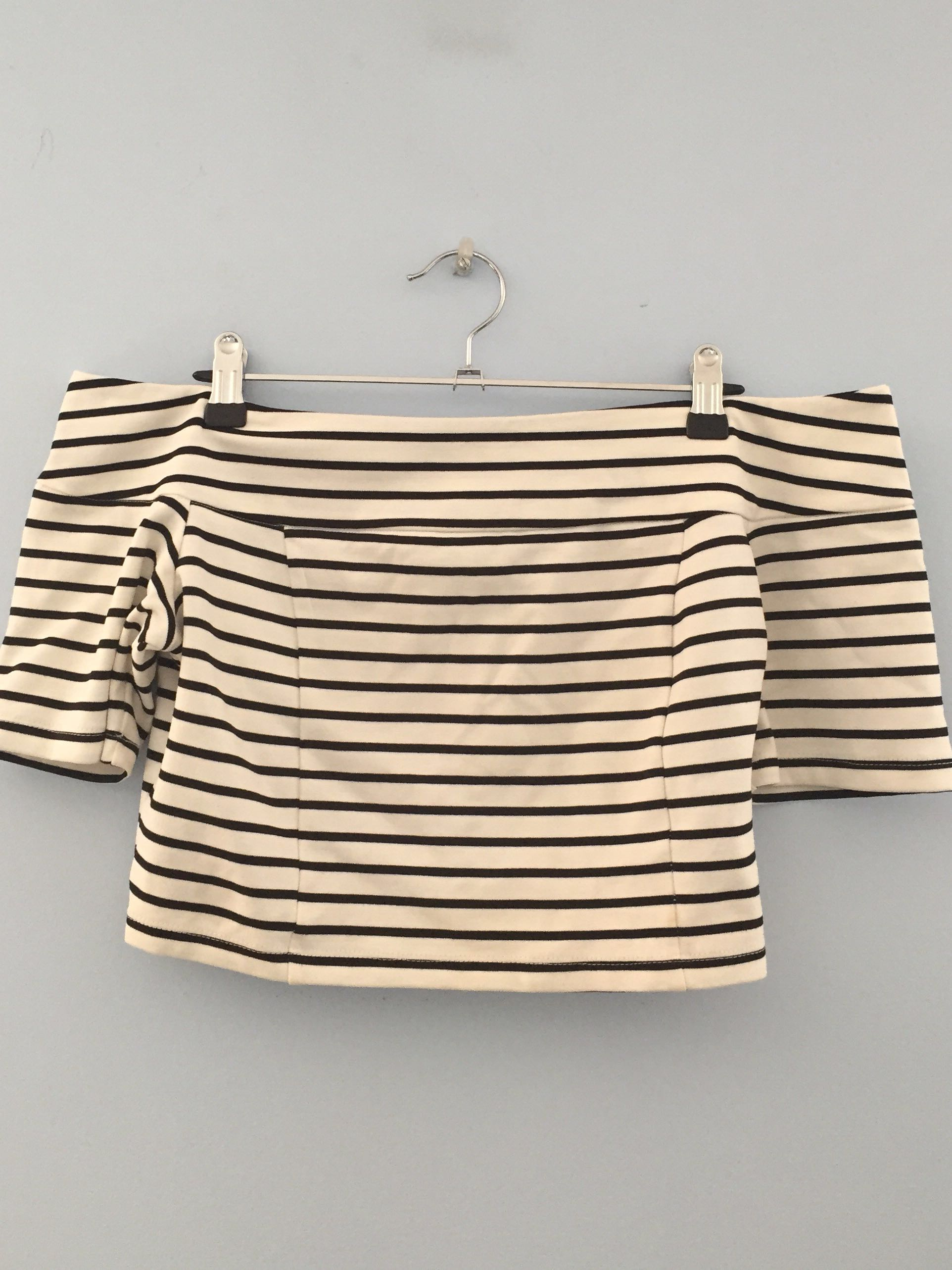 Bardot Off The Shoulder Crop